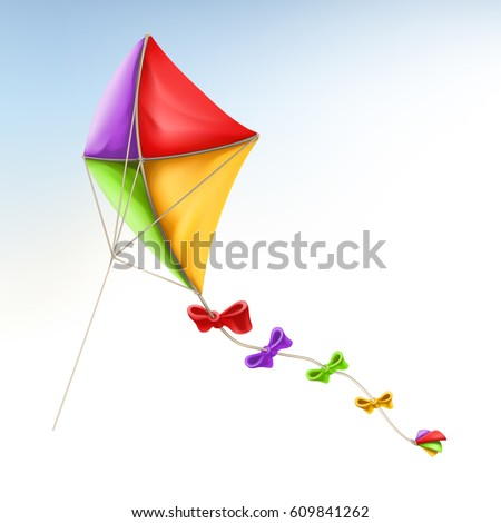 Kite, 3d vector icon