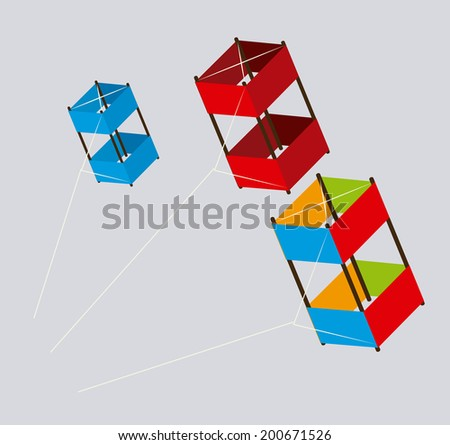 Kite design over gray background, vector illustration