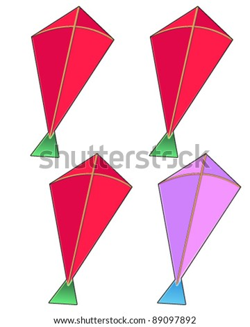 Kite isolated - stock vector