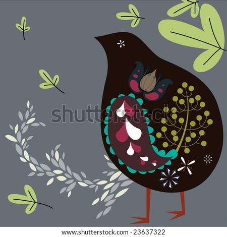 kiwi bird - stock vector