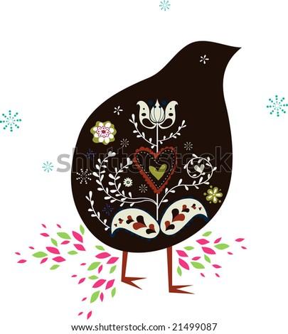 kiwi bird design - stock vector