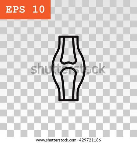 Knee joint icon, Knee joint icon eps 10, Knee joint icon vector, Knee joint icon illustration, Knee joint icon jpg, Knee joint icon, Knee joint icon flat, Knee joint icon design, Knee joint icon web - stock vector