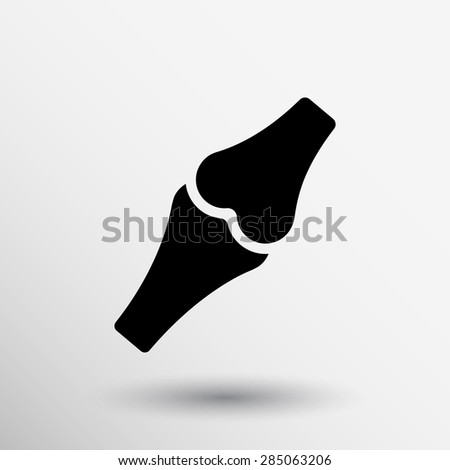Knee joint sign vector illustration icon bone knee health human medical. - stock vector