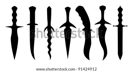 Knife silhouettes