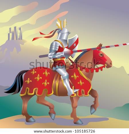 knight - stock vector