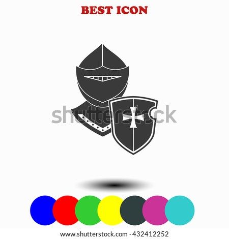 Knight icon. Knight illustration. Knight web. - stock vector