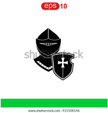 Knight icon. Universal icon to use in web and mobile UI - stock vector