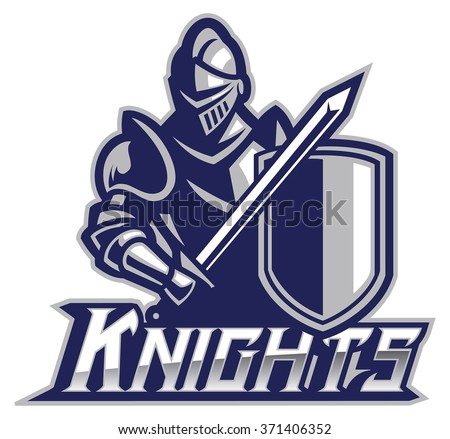knight in armor - stock vector