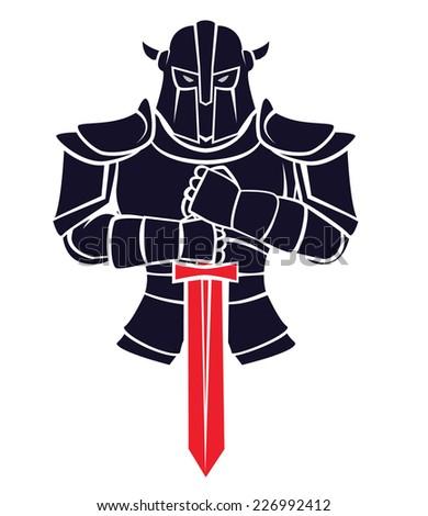 Knight Warrior - stock vector