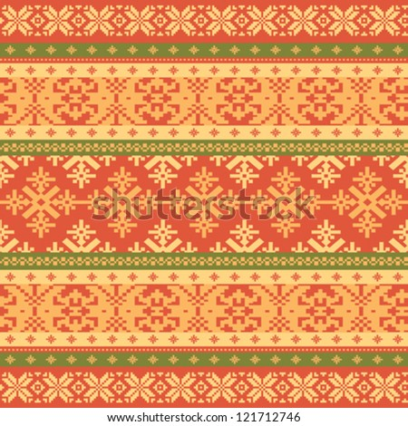 Knitted background Christmas seamless pattern