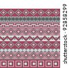 Knitted background in Fair Isle style - stock vector