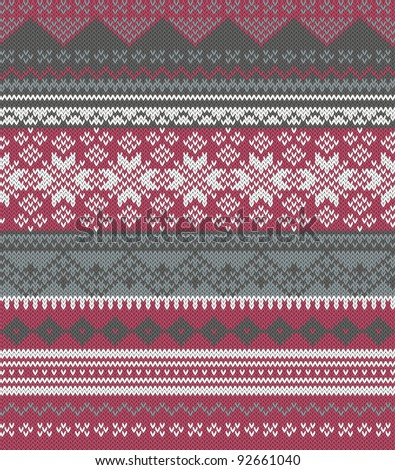 Knitted background in Fair Isle style