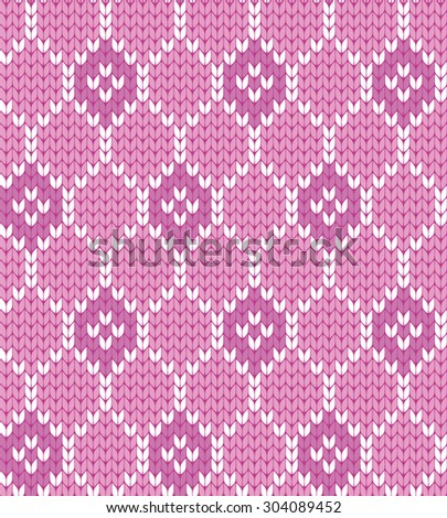knitted geometric seamless pattern - stock vector