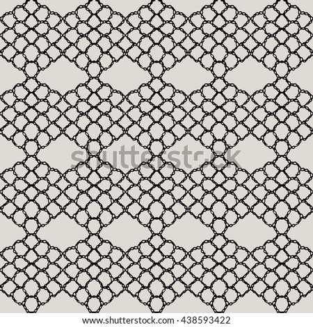 Knitted lace, lace pattern crochet, macrame. Floral seamless pattern with a fringe border knitted or woven macrame in boho style - stock vector