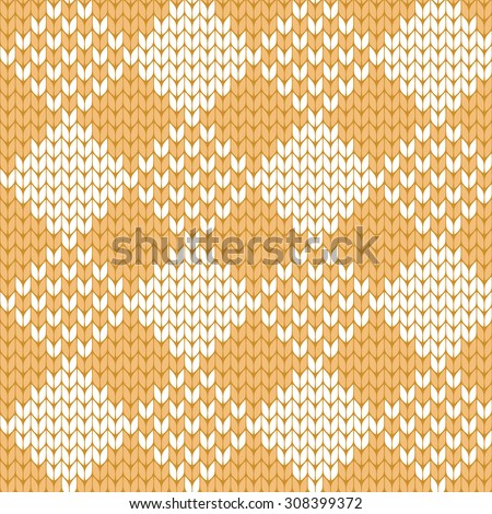 knitted seamless pattern rhombus - stock vector