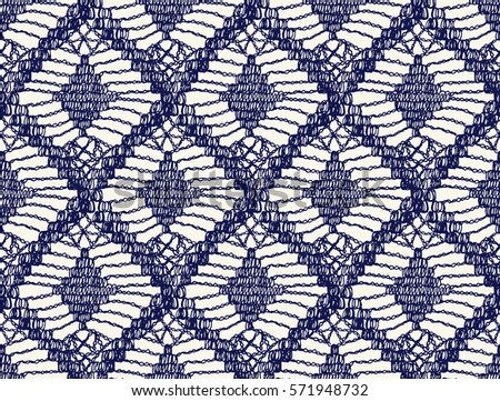 Knitted Seamless Patterns Crochet Mesh Knitting Stock Vector Hd