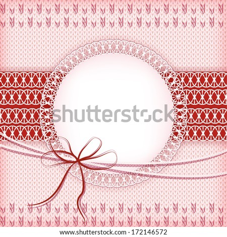 Knitting background. Vector.