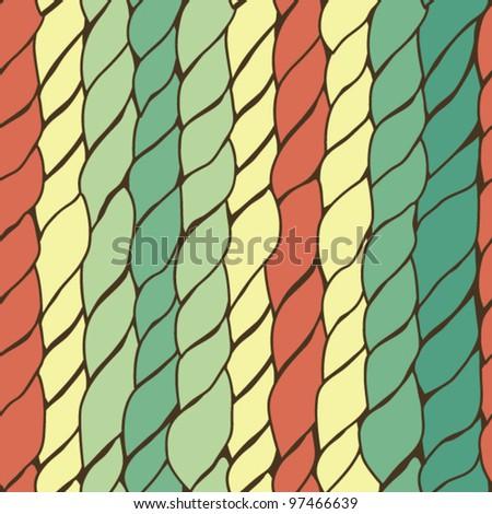 knitting seamless pattern - stock vector