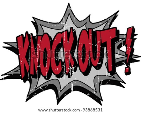 knock out - stock vector