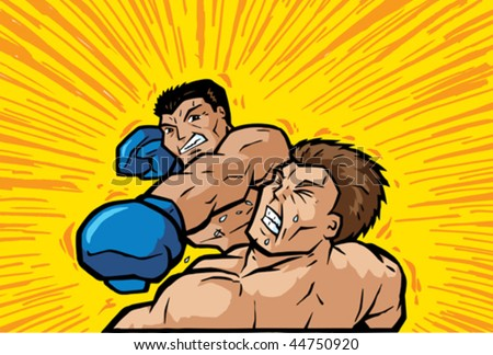 Knockout Punch - stock vector