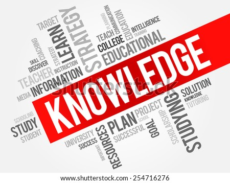 KNOWLEDGE word cloud, education concept - stock vector