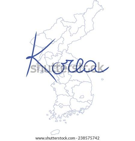 korea - stock vector