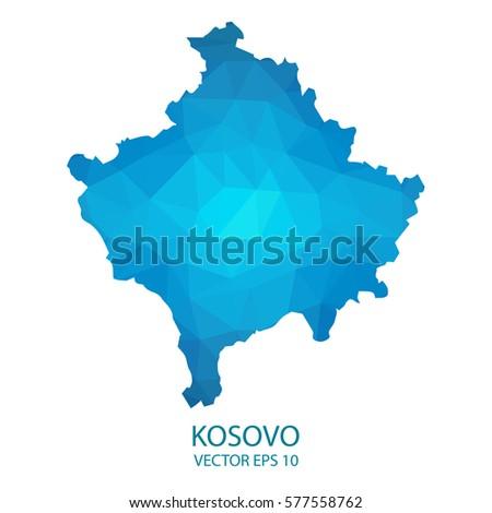 Kosovo World Map Pixel Diamond Texture Stock Vector - Kosovo map