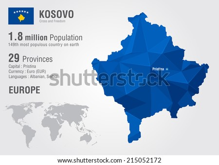 Kosovo world map pixel diamond texture vector de stock215052172 kosovo world map with a pixel diamond texture world geography gumiabroncs Images