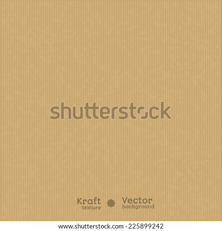 Kraft paper texture background. Use for your design. presentations, etc. - stock vector