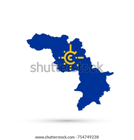 Kurdistan Map Central European Free Trade Stock Vector 754749238