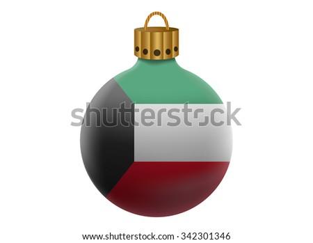 kuwait christmas ball isolated - stock vector