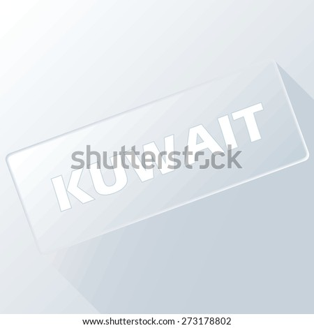 Kuwait unique button for any design. Vector illustration