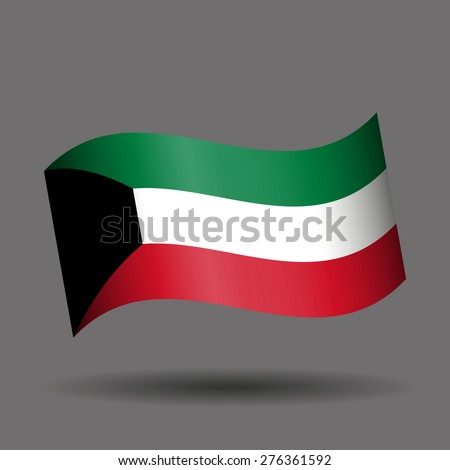 Kuwait waving flag