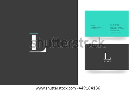 L Letter Logo, Icon, with Business Card Template Vector
