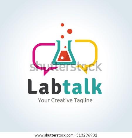 Lab talk Vector Logo template - stock vector