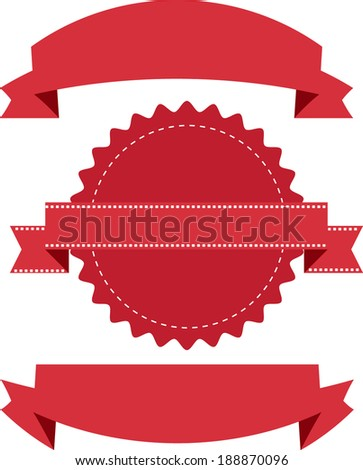 label and badge - stock vector