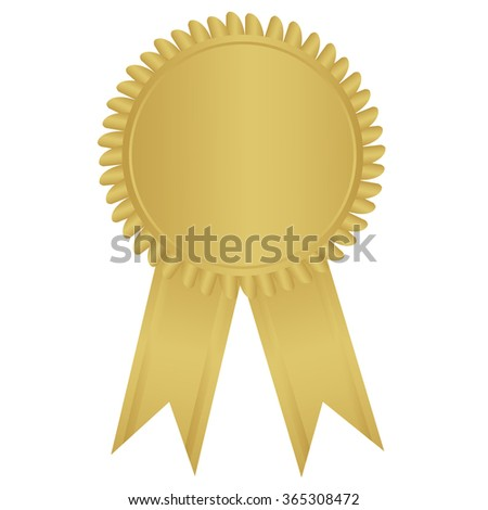 label , award with ribbons. Vector illustration.