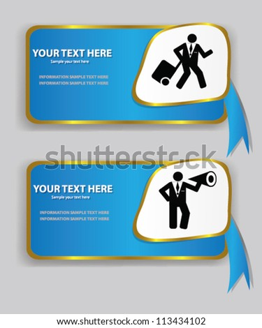 Label,business banner,Vector - stock vector