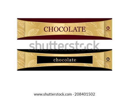 label / chocolate / packing