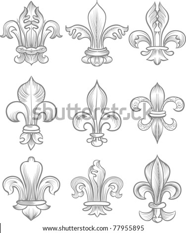 label collection - stock vector