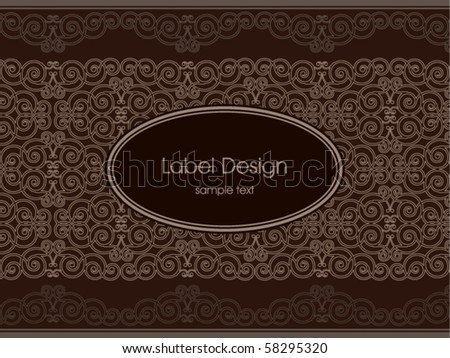 Label design - stock vector