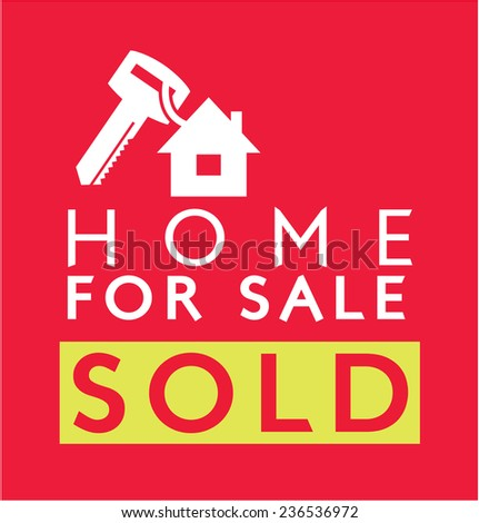 Label design for : Sold Home - stock vector
