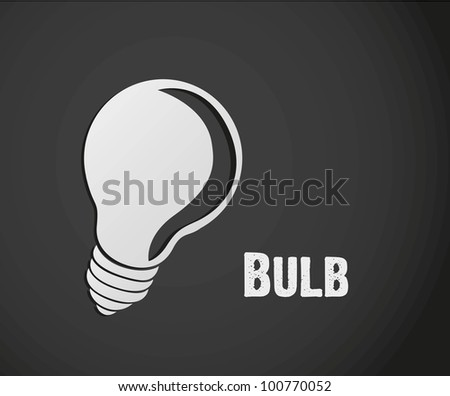 label design of bulb isolated on gray background, vector illustration - stock vector