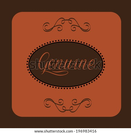 Label design over brown background, vector illustration