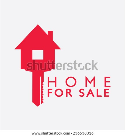 Label Design : Sale Home - stock vector