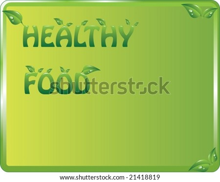 label for healthy food, illustration