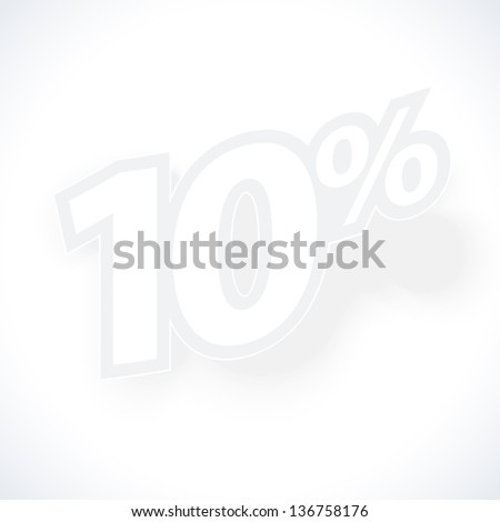 Label for special offers and sales discount. Eps 10 vector illustration. Used effect transparency layers of shadow - stock vector