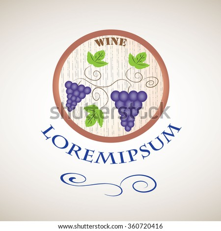 Label for wine products, vector illustration - stock vector