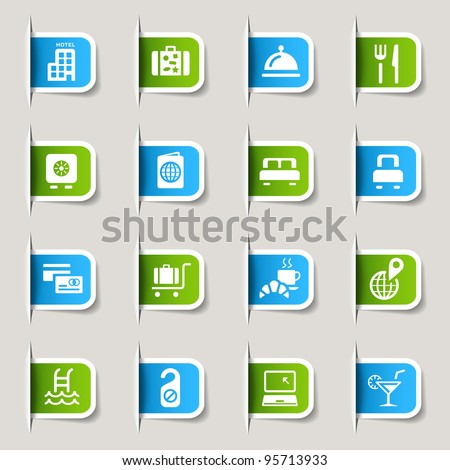 Label - Hotel icons - stock vector