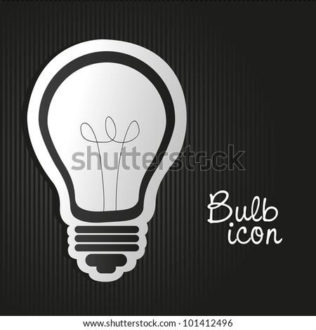 label light bulb on bottom lines - stock vector